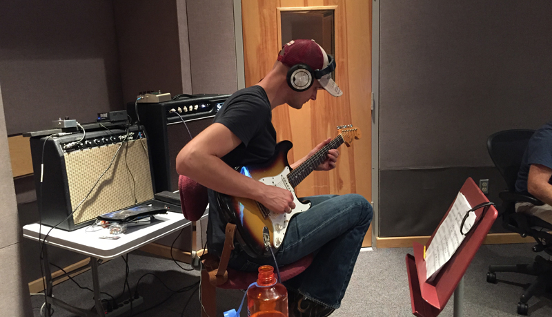 Micha Schellhaas in the studio 2015