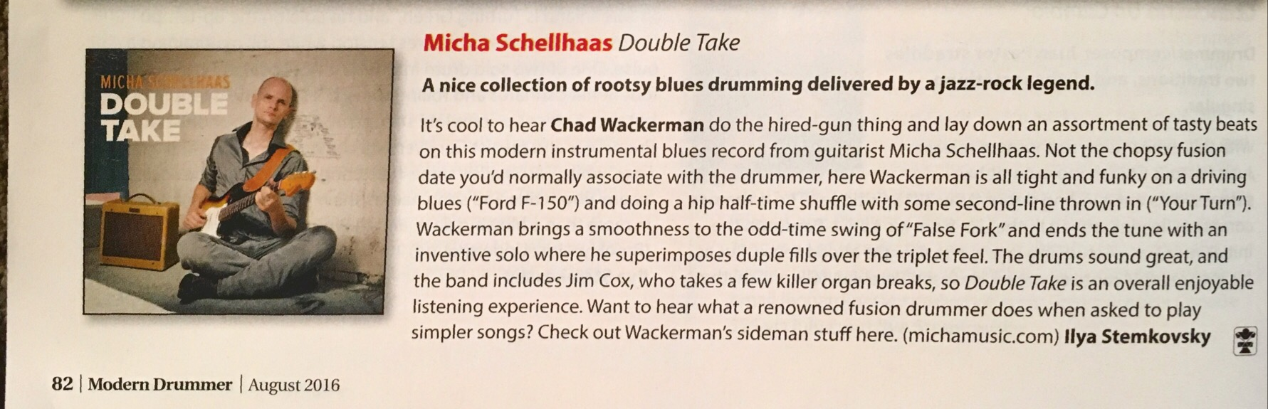Micha appears in Modern Drummer Magazine